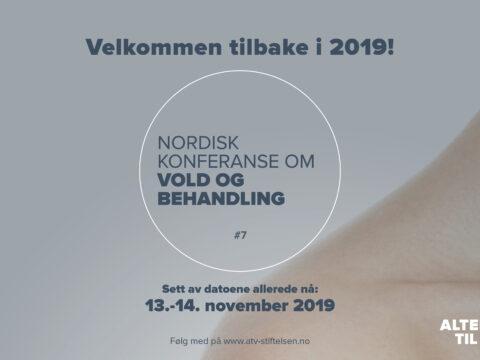 Les saken: Nordisk konferanse om vold og behandling 2019